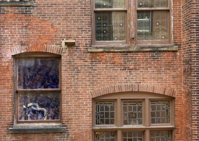 Brick exterior of 2130 Locust apartments in Rittenhouse Square, Philadelphia