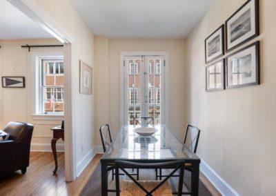 Rittenhouse Square apartment dining room at 2130 Locust