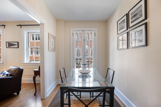 Rittenhouse Square apartment dining room at 2130 Locust